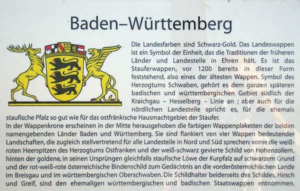 Tafel Jubiläumsturm Baden-Württemberg