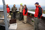 Treffen auf dem Eichbergturm, Besprechung Standort Solarmodule u.a.